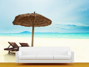 Sandy Tropical Beach Wall Mural