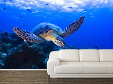 Load image into Gallery viewer, Sea Turtle Wall Mural