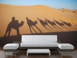 Shadow of Camel Riders Wall Mural