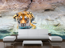 Load image into Gallery viewer, Sitting Tiger Wall Mural