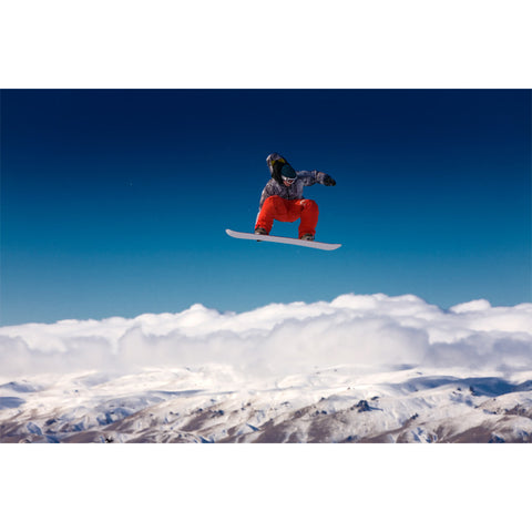 Snowboarder Jumping Wall Mural