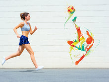 Load image into Gallery viewer, Soccer Player Kicks Ball Wall Decal