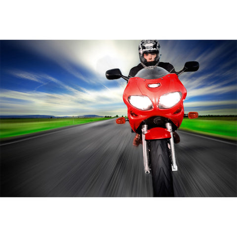 Speeding Motorcycle Wall Mural