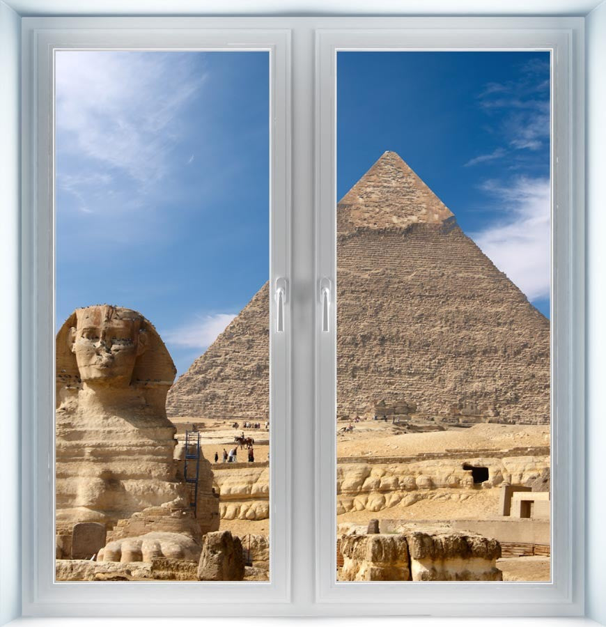Sphinx and Great Pyramid Instant Window