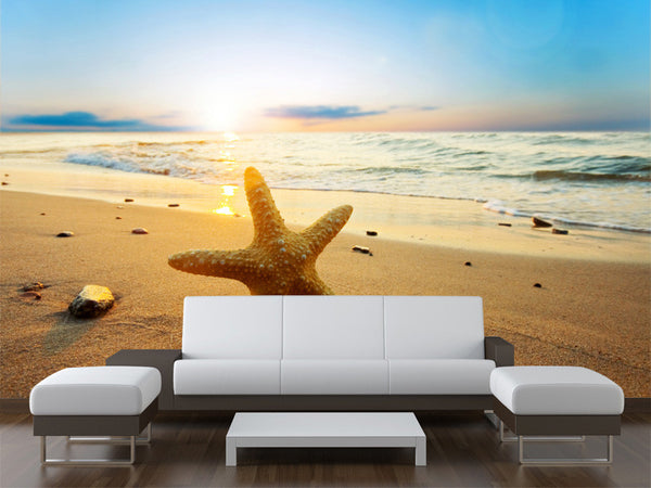 Starfish at Sunset Wall Mural