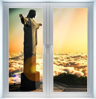 Statue of Christ Instant Window