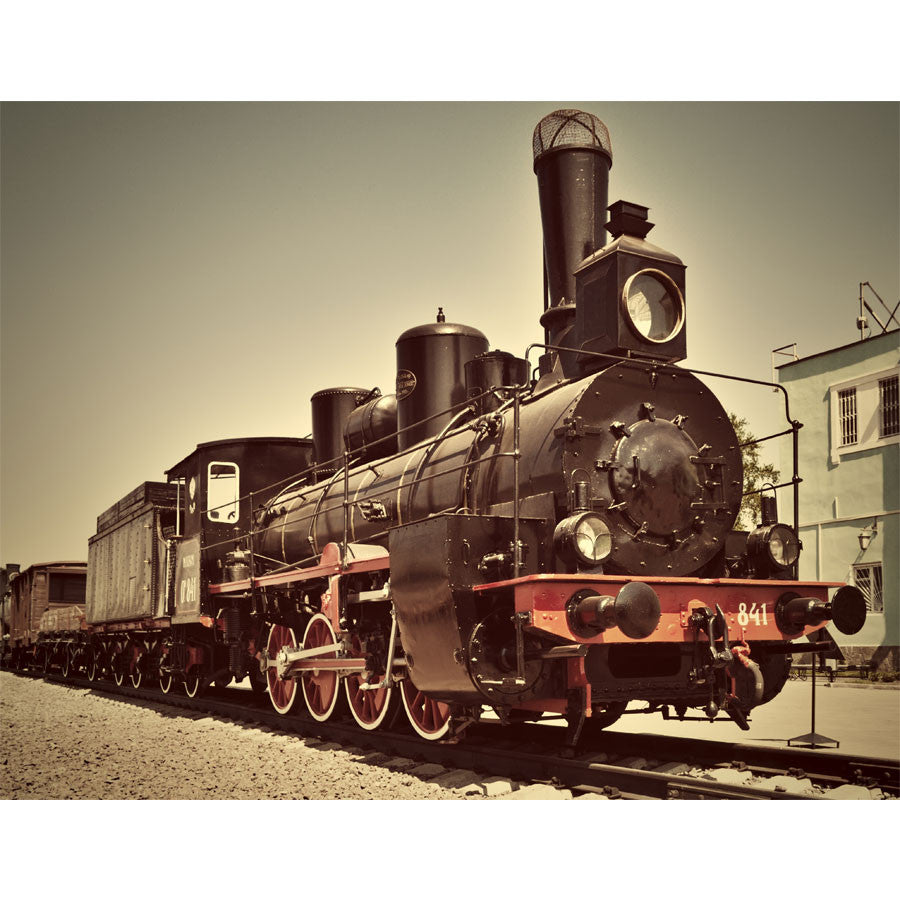 Old Vintage Steam Train Wall Mural
