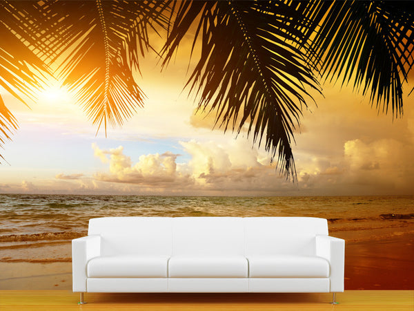 Sunset on the Beach Wall Mural