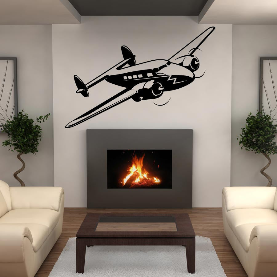 Super Electra Plane Wall Decal