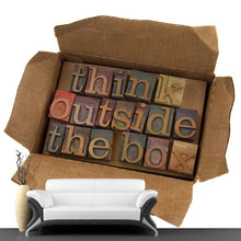 Load image into Gallery viewer, Think Outside the Box Letters Wall Mural