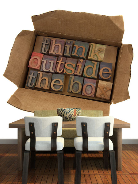 Think Outside the Box Letters Wall Mural