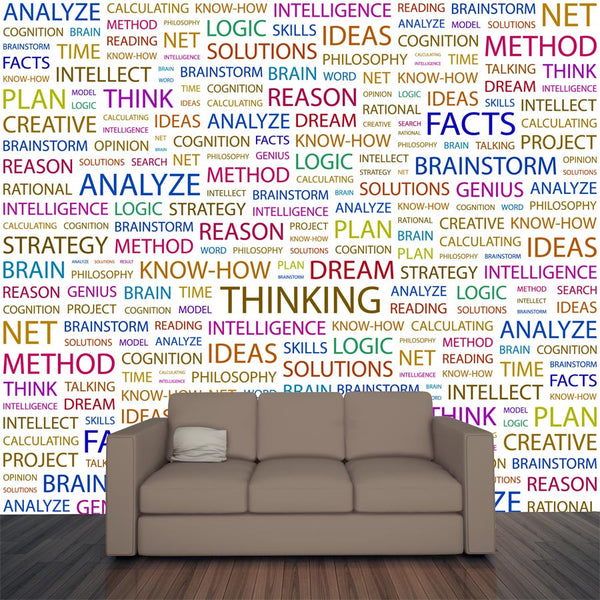 Thinking Pattern Wall Mural