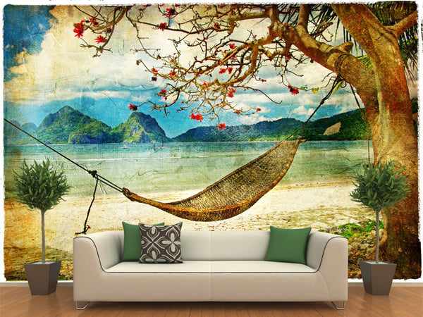 Tropical Painting Scene