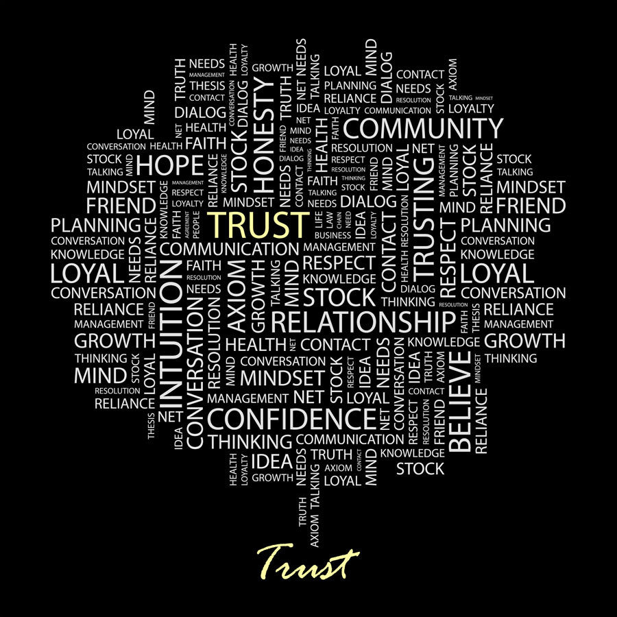 Trust in Word Cloud Wall Mural
