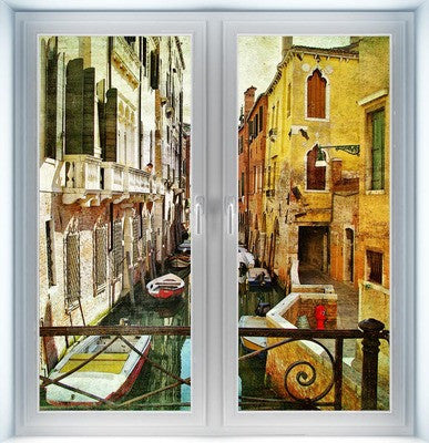 Venice Style Painting Closed Instant Window