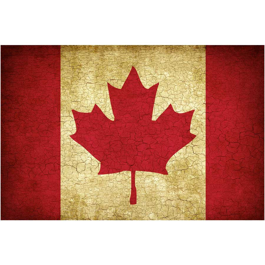 Vintage Canadian Flag Wall Mural – Majestic Wall Art