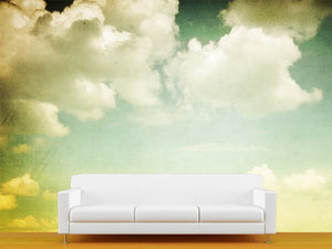 Vintage Clouds Wall Mural