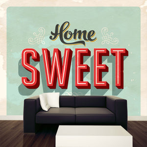 Vintage Home Sweet Home Wall Mural