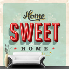 Load image into Gallery viewer, Vintage Home Sweet Home Wall Mural