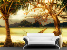 Load image into Gallery viewer, Vintage Island Scene Wall Mural