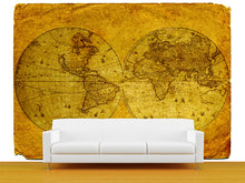 Load image into Gallery viewer, Vintage World Map Wall Mural