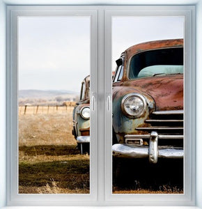 Vintage Cars Closed Instant Window