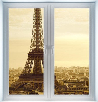 Vintage Eiffel Tower Instant Window