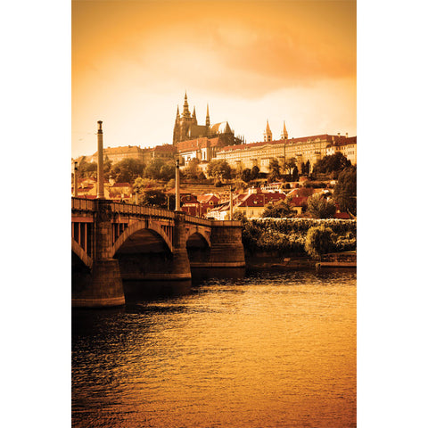 Vltava river and cityscape of Prague Wall Mural