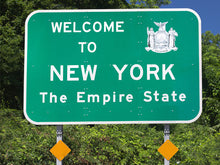 Load image into Gallery viewer, Welcome To New York Road Sign Wall Mural