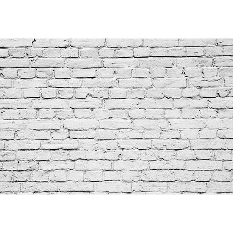 White Brick Wall Mural