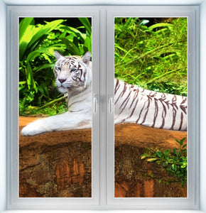 White Tiger Instant Window