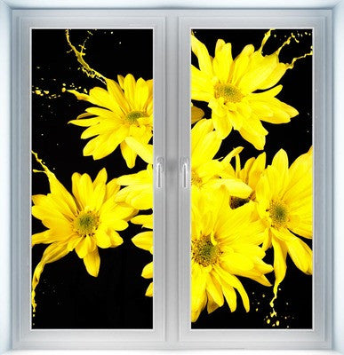 Yellow Flower Splashes Instant Window