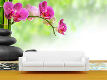 Load image into Gallery viewer, Zen Basalt and Bamboo Wall Mural
