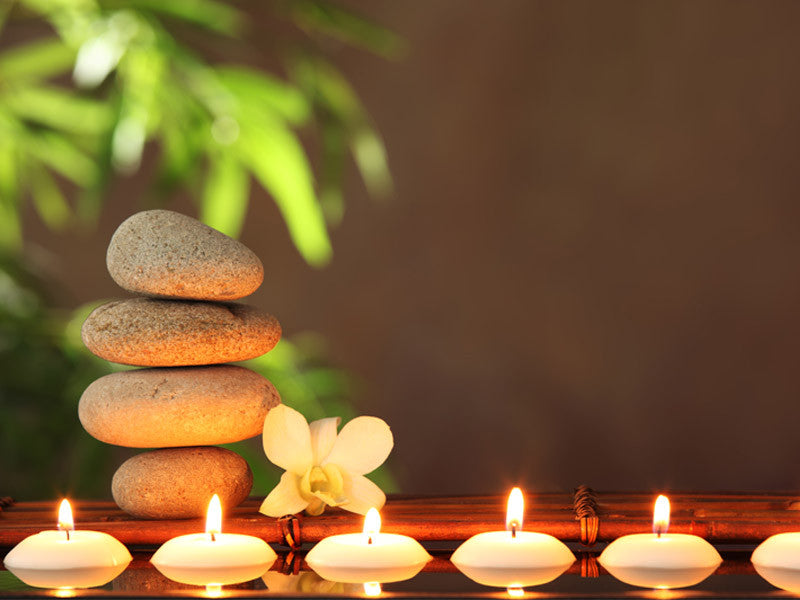 Zen Stones And Candles Wall Mural Majestic Wall Art