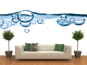 Abstract Water Bubbles Wall Mural