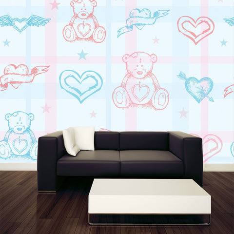 Adorable Teddy Bears Wall Murals