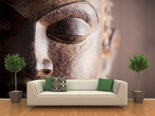 Load image into Gallery viewer, Metal Buddha Head Wall Mural