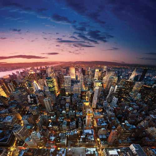 Big Apple after Sunset Wall Mural