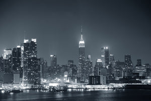 Black and White New York Skyline Wall Mural