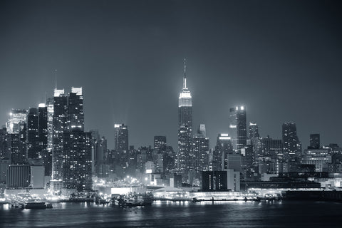 Black And White New York Skyline Wall Mural Part 96
