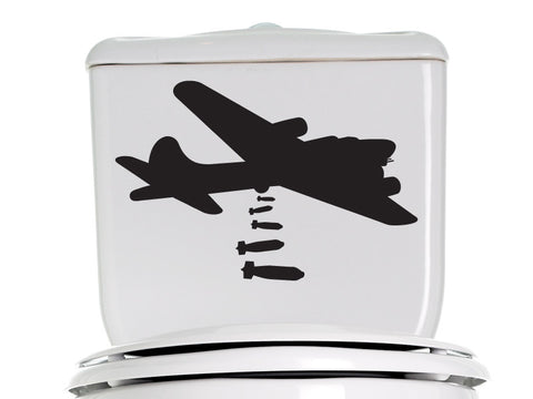 Bombs Away Bathroom Decal 2