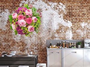 Beautiful Pink Peonies Wall Decal