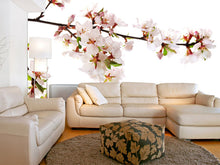 Load image into Gallery viewer, Branch of Pink Cherry Blossoms Wall Mural