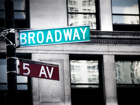 Broadway Sign Wall Mural