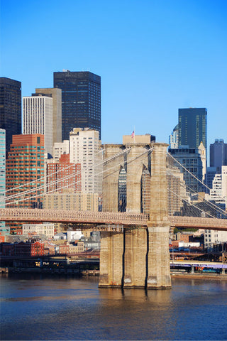Brooklyn Bridge and Manhattan Wall Mural