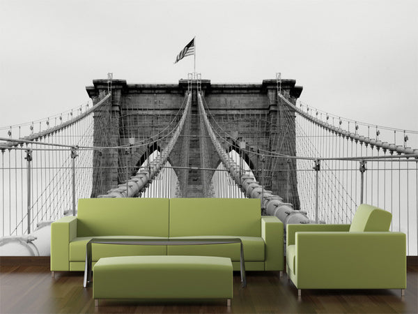 Brooklyn Bridge Cables Wall Mural