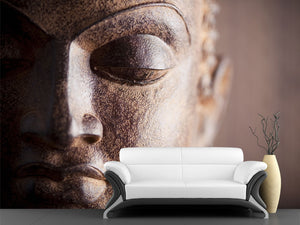 Metal Buddha Head Wall Mural