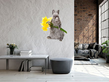 Load image into Gallery viewer, Bunny with Yellow Flowers Wall Decal