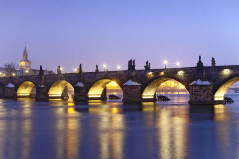 Charles Bridge at Dusk, Prague Wall Mural
