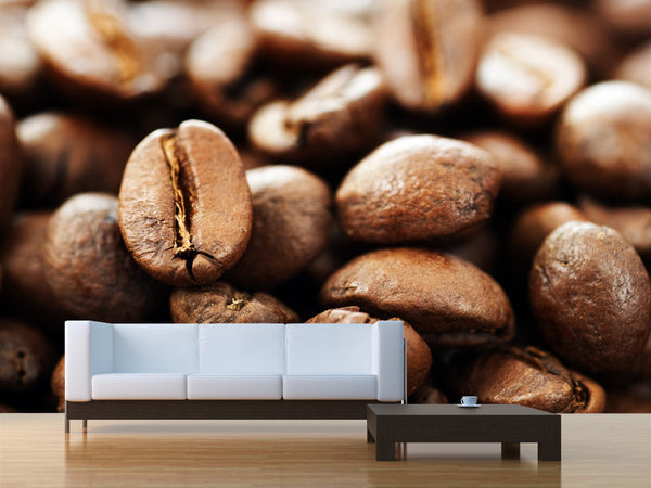 Close Up Coffee Wall Mural
